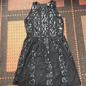 Arden B Black Sequin Mini Sz S